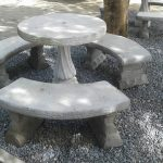 Rustic round table + staander