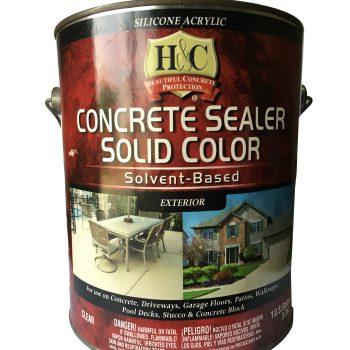 concrete sealer- solid color (clear)